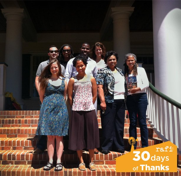Members of the Land Loss Prevention Project with RAFI staff and civil rights activist Shirley Sherrod.