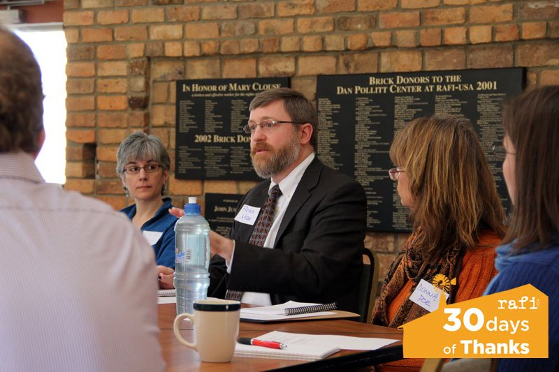 Robb Webb of Duke Endowment Foundation at a recent Rural Life Committee meeting hosted at RAFI. Photo by Daryn Lane.