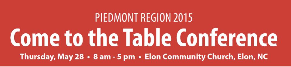 Piedmont Region conference graphic