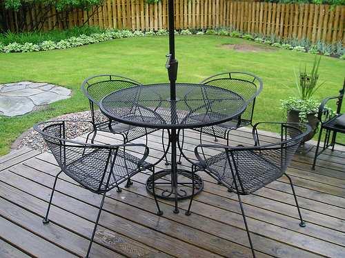 Aluminium Garden Patio Sets Wrought Iron Patio Furniture | RafterTales | Home Improvement Made Easy