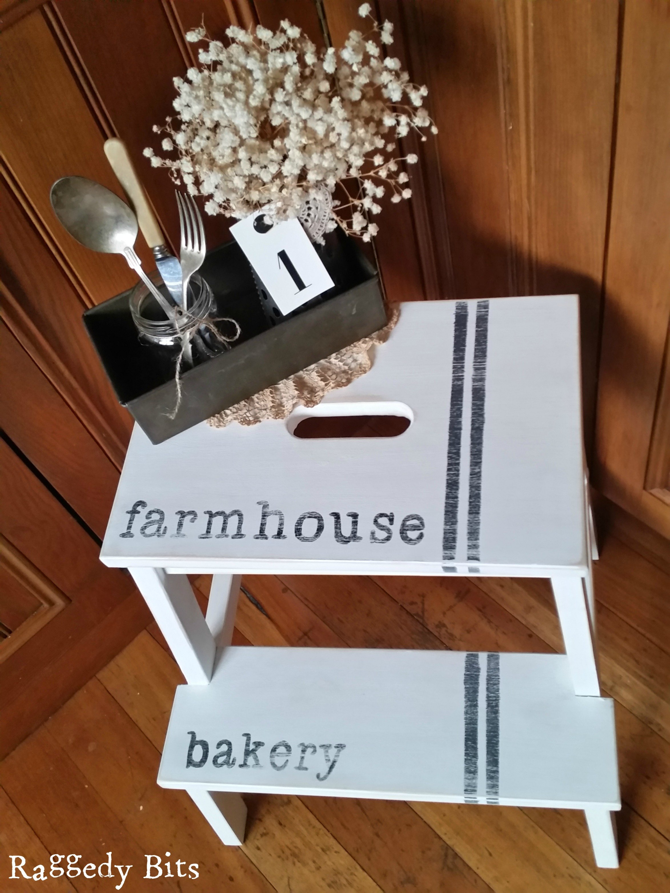 Plaque Patisserie Ikea Farmhouse Bakery Step Stool Workshop Raggedy Bits