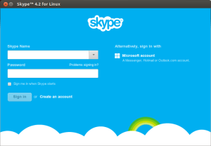 Screenshot of Skype 4.2 for Linux on Ubuntu 13.04 Raring Ringtail