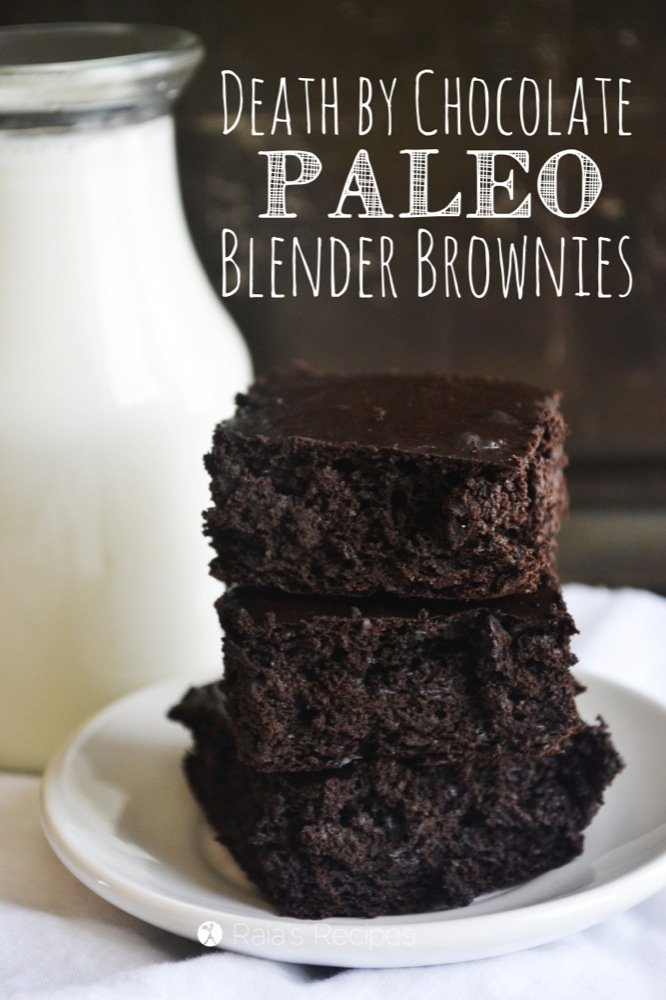 Death by Paleo Chocolate Brownies | grain-free, gluten-free, egg-free, dairy-free, refined sugar-free | RaiasRecipes.com