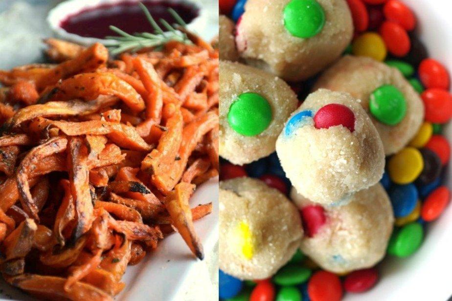 Monster Cookie Dough Bites & Sweet Potato Fries