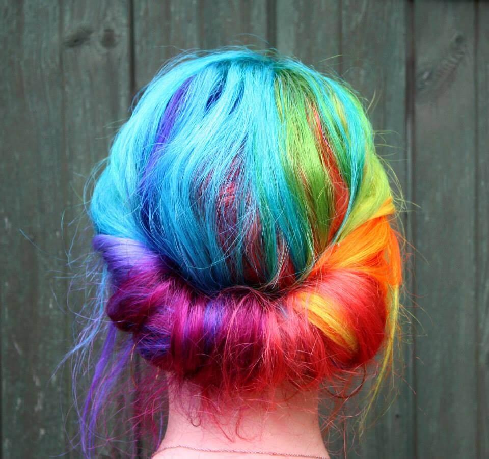 Как красить волосы мелом