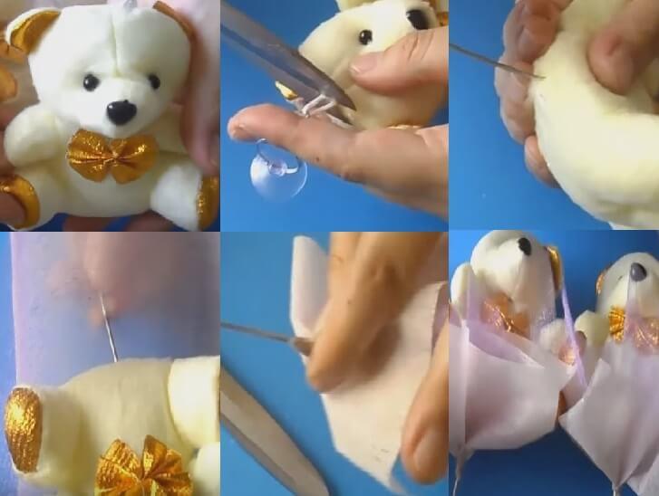 фото как сделать букет из игрушек