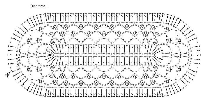 Вяжем крючком прямоугольную салфетку схемы и описание