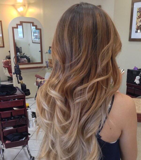 Осветление прядей из русых волос