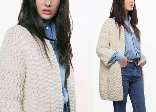 Вязаные пальто для женщин