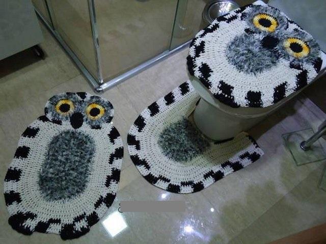 Фото совы крючком для ванной комнаты и туалета