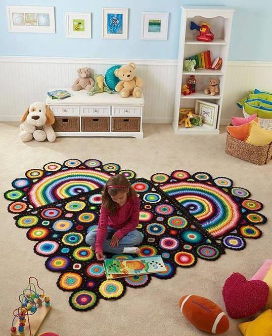 Фото коврик крючком в детскую комнату