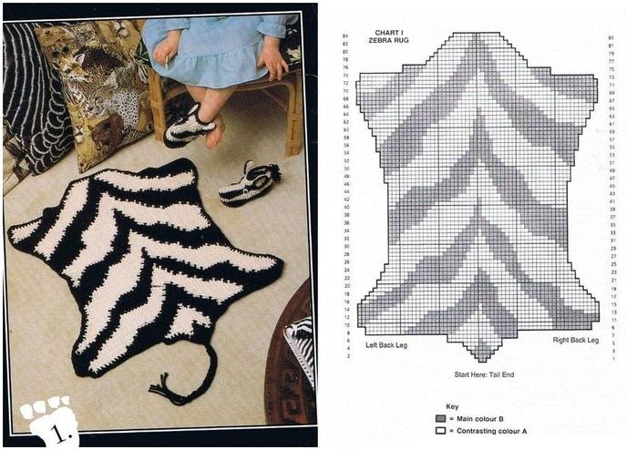 Вязаные коврики своими руками схемы