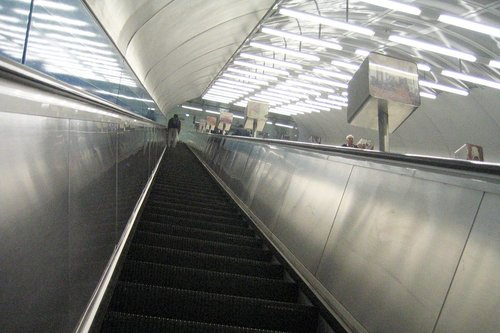 Parliament Station escalators, longest in Melboune I believe