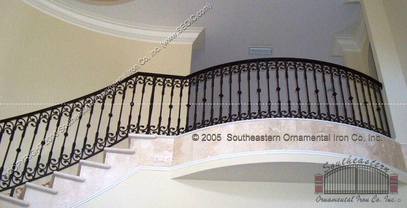 Wrought Iron Stair Railing Southeastern Ornamental Iron