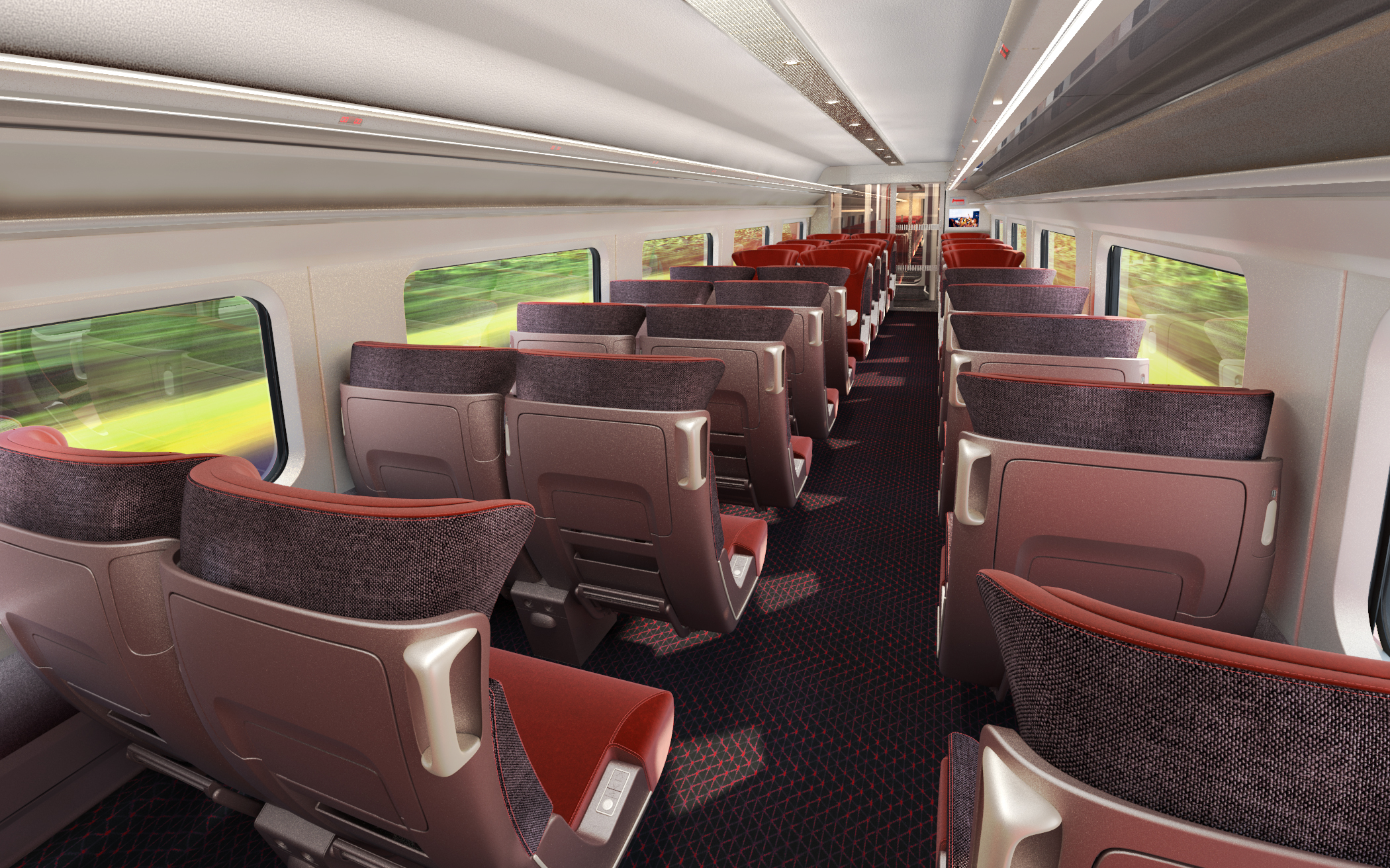 Design Interieur Tgv Interior Of Thalys High Speed Trains Completely Restyled