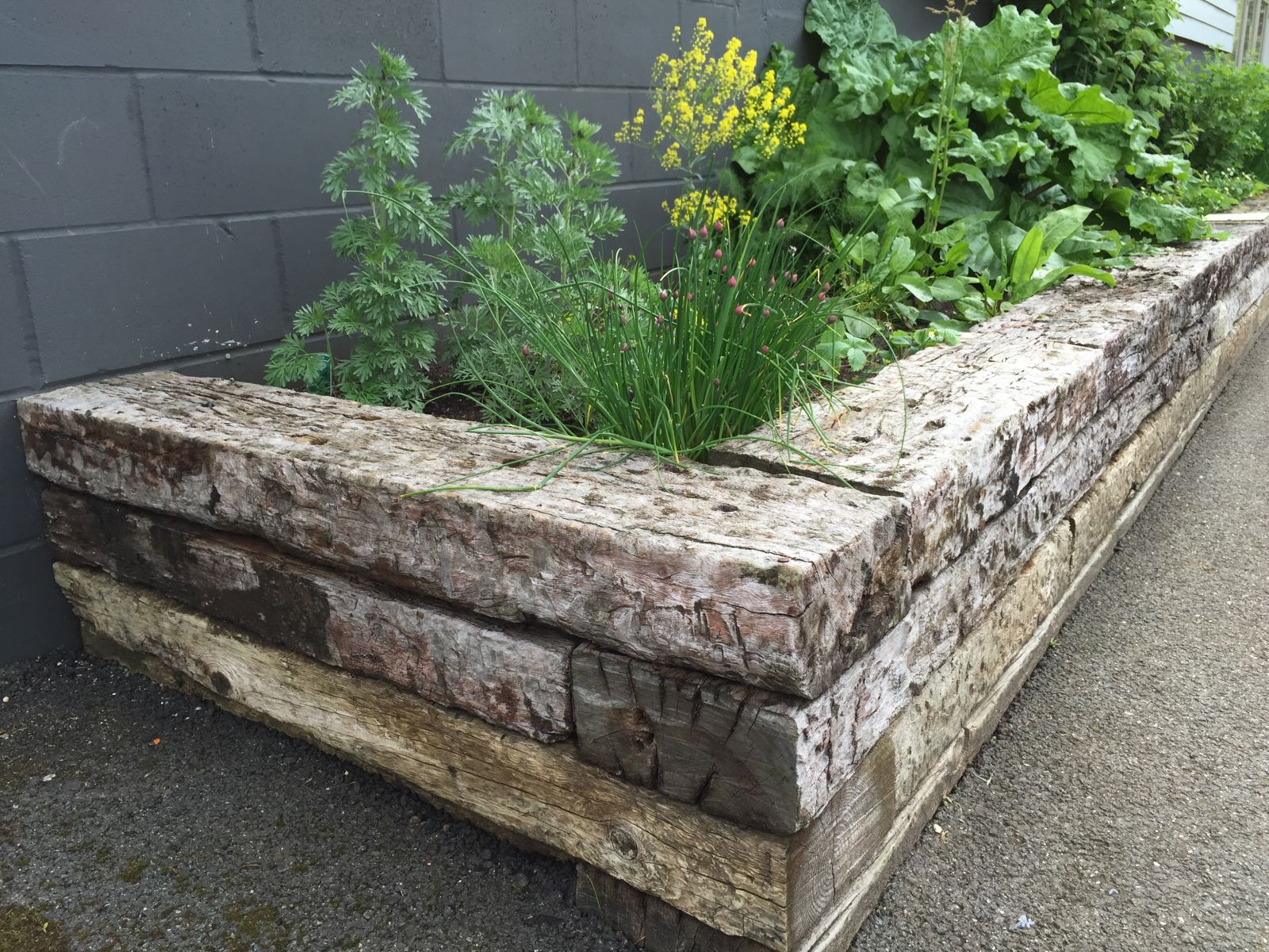 Using Railway Sleepers For Raised Vegetable Beds How To Build With Railway Sleepers