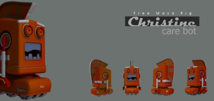 christine-care-bot-free-maya-rig