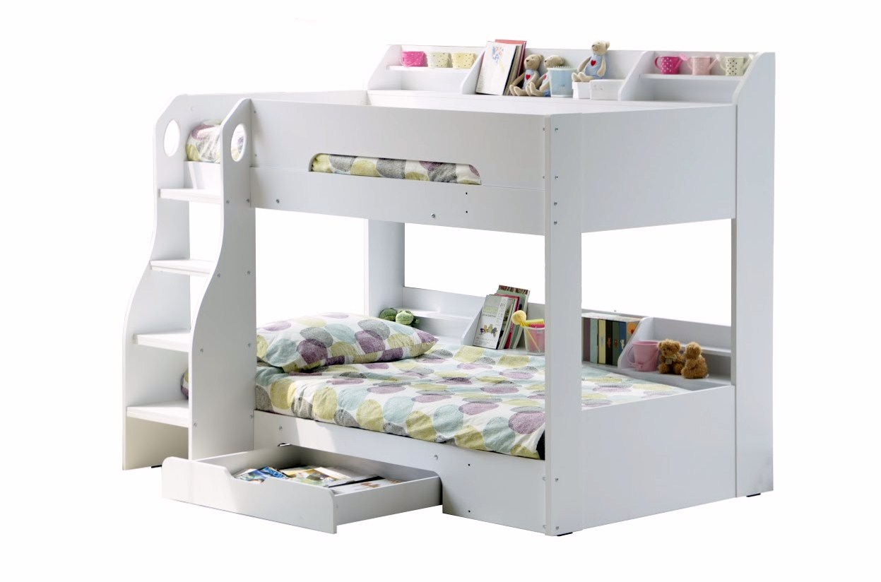 Stompa Classic Bunk Bed Flick White Bunk Bed Rainbow Wood
