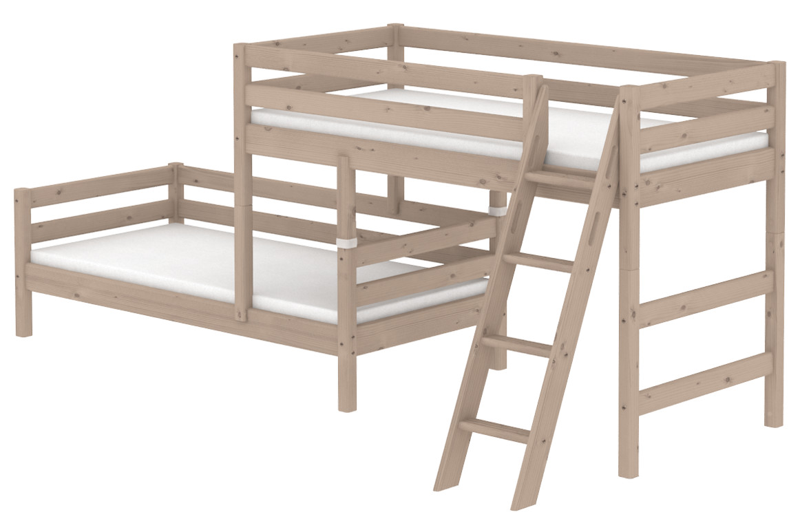 Stompa Classic Bunk Bed Flexa Classic Staggered Bunk Bed Rainbow Wood
