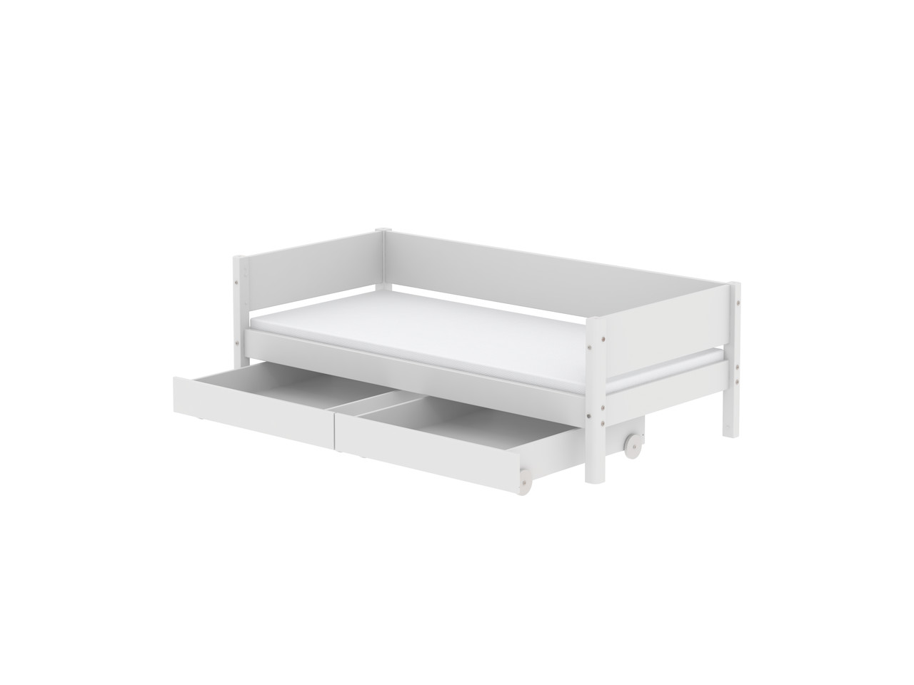 Single Bed With Storage Drawers Flexa White Single Bed With Drawers Rainbow Wood