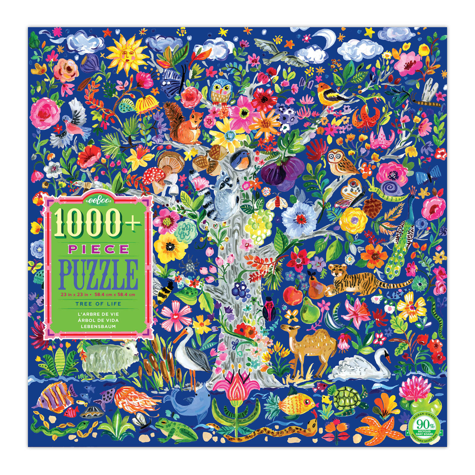 Puzzel Online Eeboo Tree Of Life 1008pc Jigsaw Puzzle Eeboo Adult Puzzles