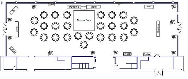 Wedding Floor Plans Rain City Catering  Event Venue