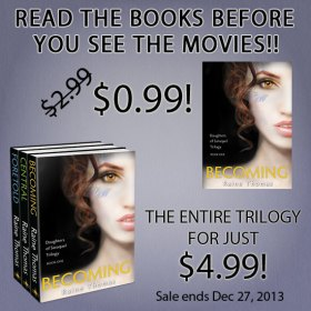 dofsmoviesale Books to Movies Celebration: Raine Thomas' Daughters of Saraqael Trilogy Sale & Giveaway