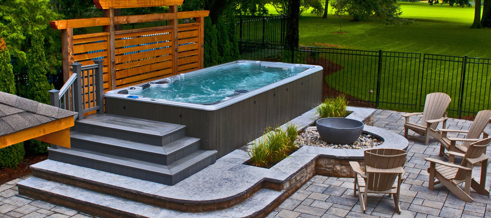 Whirlpool Outdoor Swim Spa Rainforest Outdoor Living
