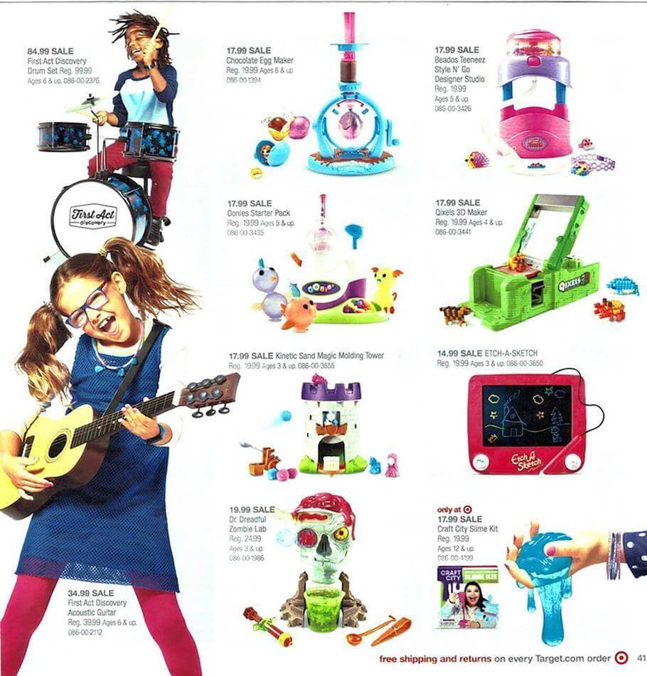 Toy Guitar Target Target Toy Book Ad 2017