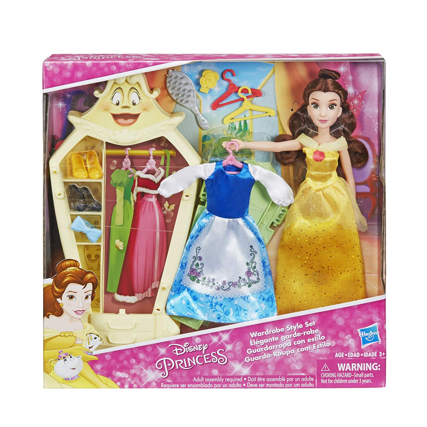Garderobe Vintage Amazon Disney Princess Belle S Wardrobe Style Set Only 14 80 Reg