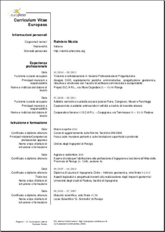 curriculum vitae european format professional resumes example online