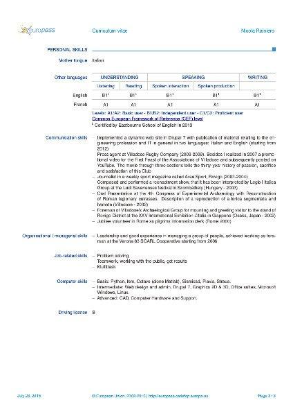 europass online cv bg