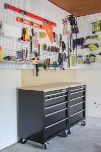 One Stop Workshop: DIY Mobile Workbench + Pegboard ...