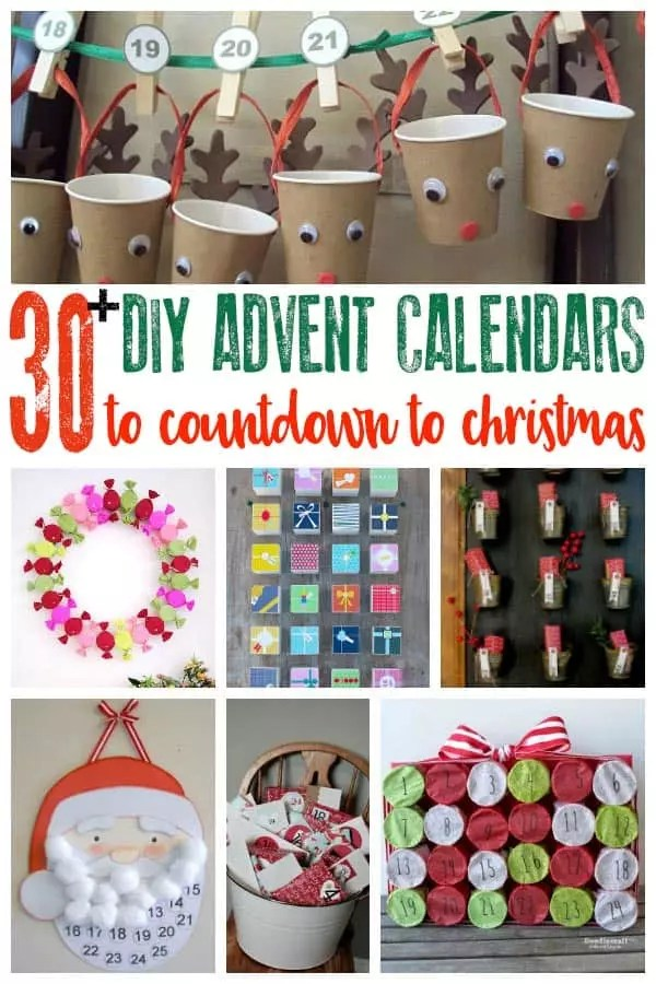 Creative Ideas for DIY Advent Calendars to Countdown to Christmas
