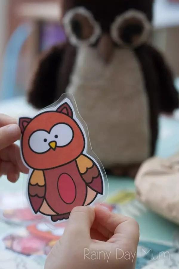 Owl Babies Prinatble Shape Activity for Preschoolers