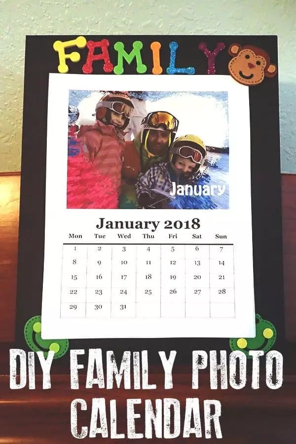 DIY Family Photo Calendar