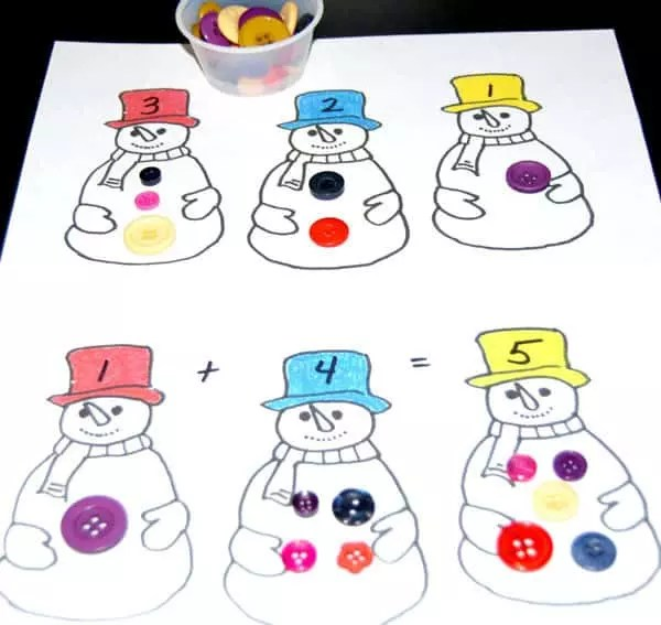 Five Little Snowmen Puppets to Make for Rhyme Time