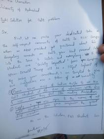 p1 of ROHITH VEMULA's letter of 18/12/2015 to the Vice Chancellor of Hyderabad Central University