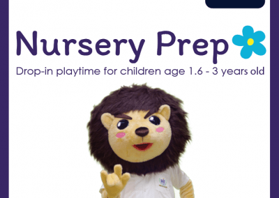 Nursery Prep : Drop-in playtime for children age 1.6 – 3 years old
