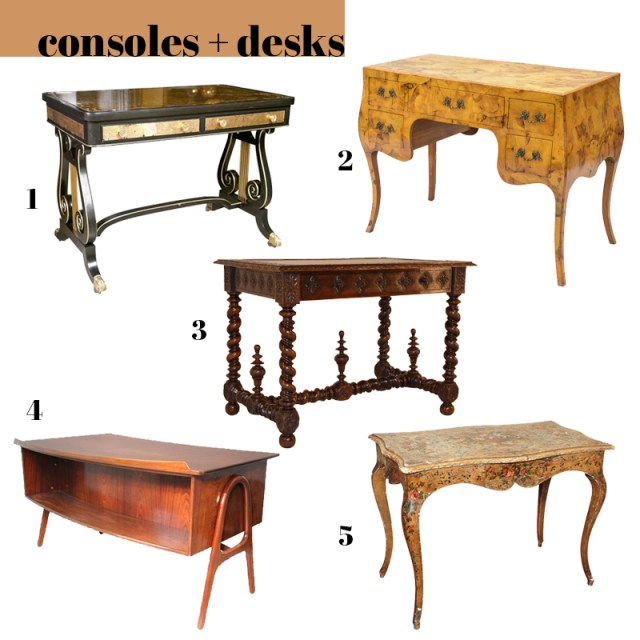 best modern antique desks