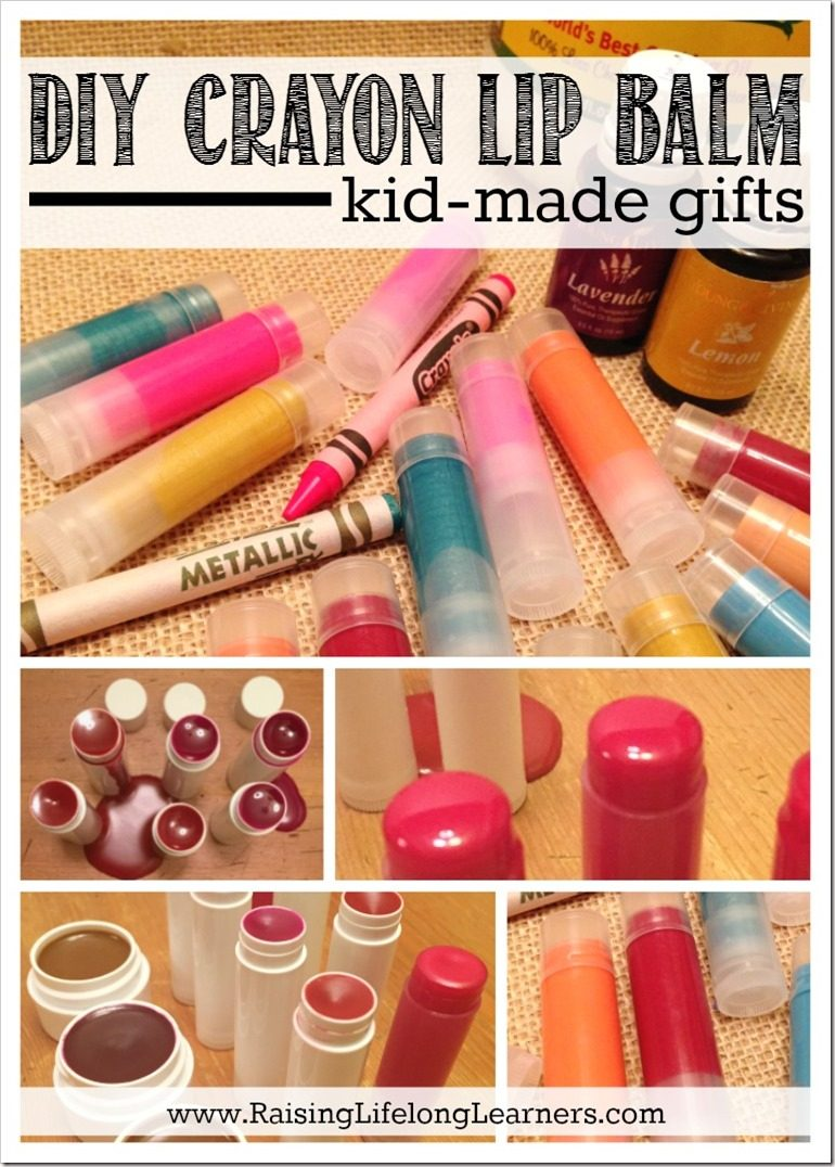 Diy Lip Balm Flavors Diy Crayon Lip Balm Kid Made Gifts