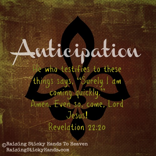 Judye's One Word For 2014: Anticipation