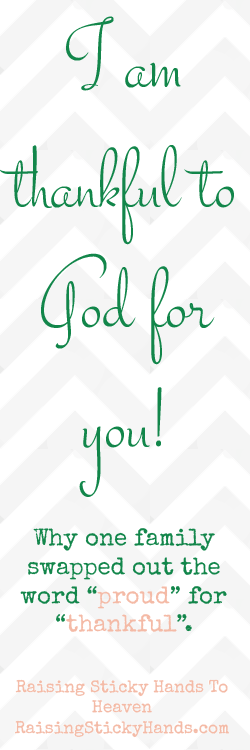 I Am Thankful To God For You