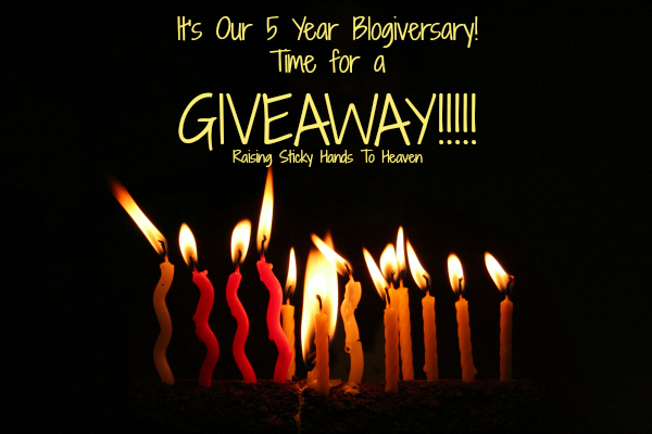 It's Our 5 Year Blogiversary! Time For A GIVEAWAY!!!