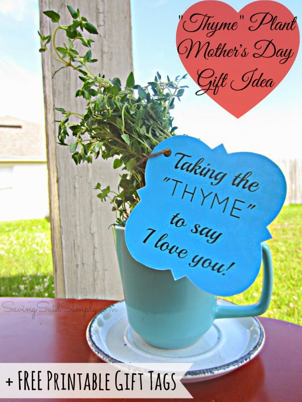 DIY Mother\u0027s Day Gift Idea + FREE Thyme Printable Gift Tags