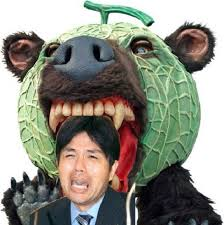 Ryutaro Nonomura (野々村 竜太郎), the crying politician and his internet fame : Hysterical Nomura being bitten by Yubari the melon bear