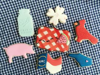 Colorful picnic cookies