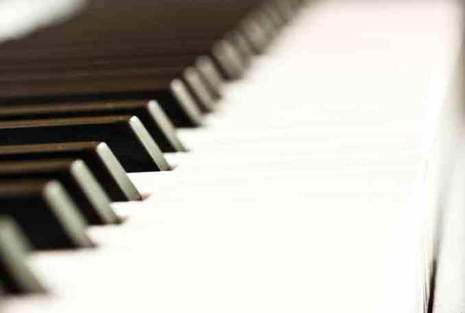 Close up of a piano