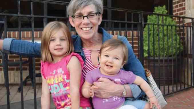 Katie Joiner and her grandchildren
