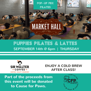 Puppies, Pilates & Lattes @ Market Hall | Raleigh | North Carolina | United States